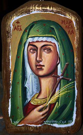 Αγιογραφία Αγίας Μαρκέλλας: Μπάμπης Κοιλιάρης/ζωγράφος, αγιογράφος, συντηρητής έργων τέχνης, συγγραφέας. Τον ευχαριστώ για την διάθεση της Αγιογραφίας του